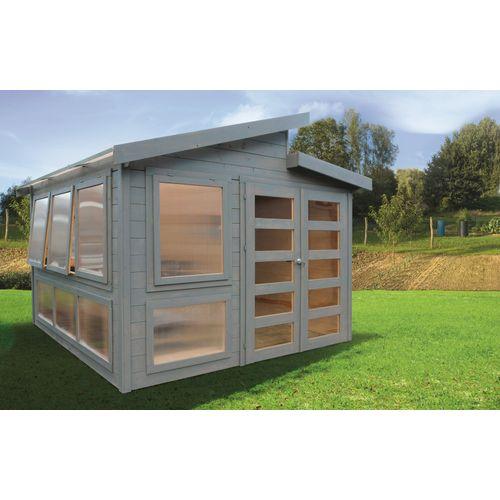 Solid tuinhuis Merano hout 298x298cm