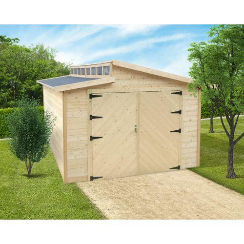 Solid garage gemotoriseerd 'Torino' hout 20,06 m²
