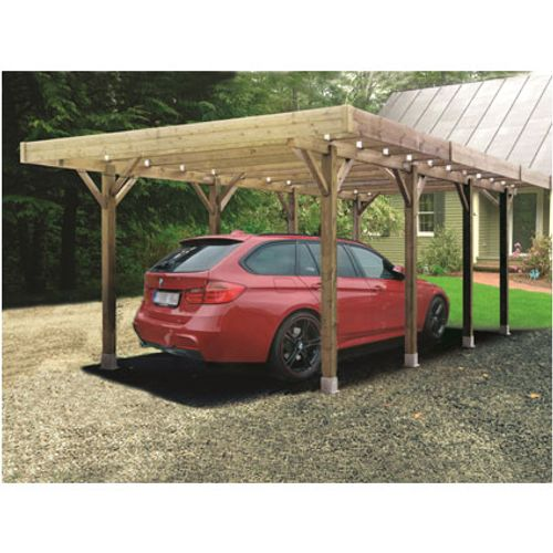 Carport Solid 'Base' bois 4 x 5 m