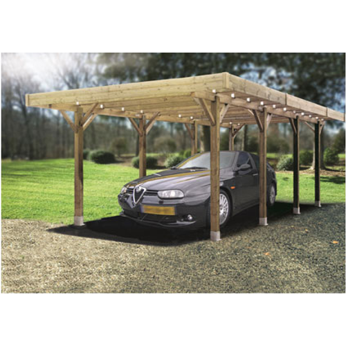 Carport Solid 'Basis' hout 5 x 5 m