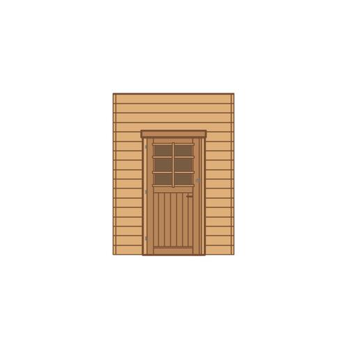 Solid zijwand met enkele deur 'S7730' 180 x 240 cm