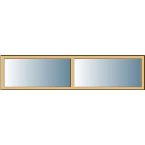 Solid raam voor carport 'S7752' 180 x 50 cm