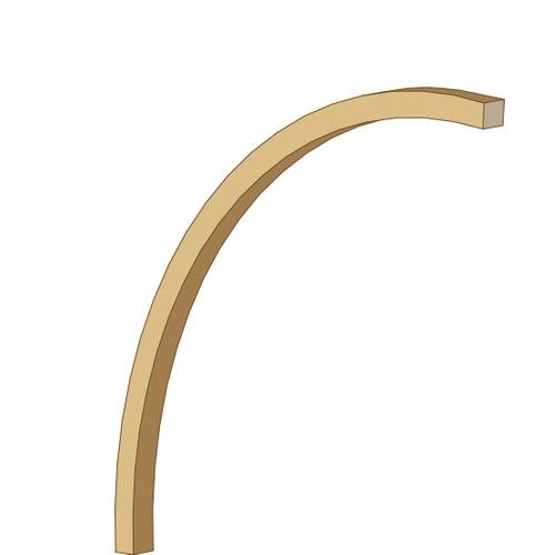 Solid gebogen tuinpaal grenenhout 242 cm