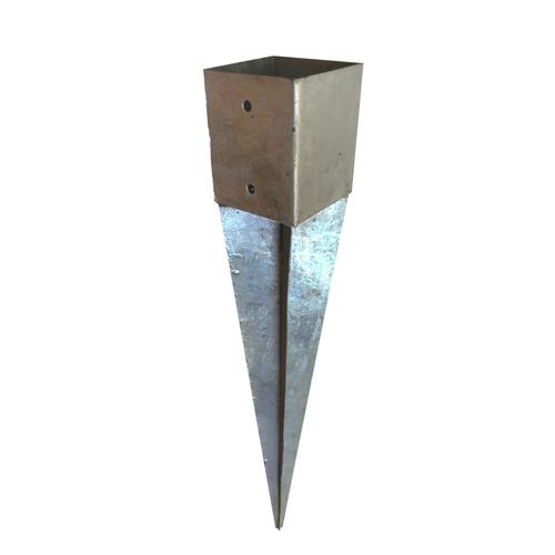 Solid paalhouder met punt 120x120mm