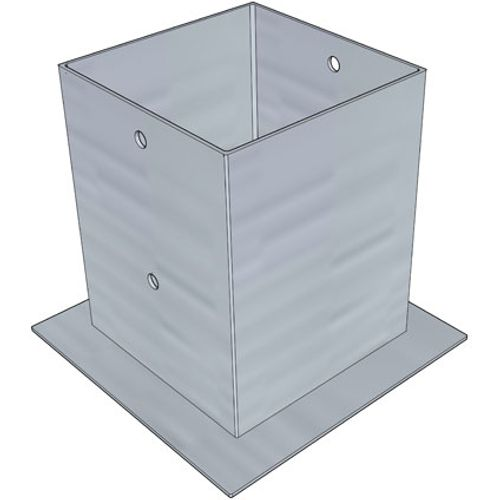 Ancre pour poteau Solid gris 120 x 120 mm