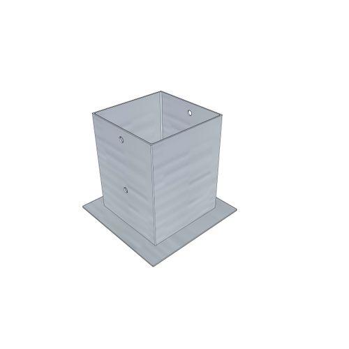 Solid paalhouder grijs 120 x 120 mm