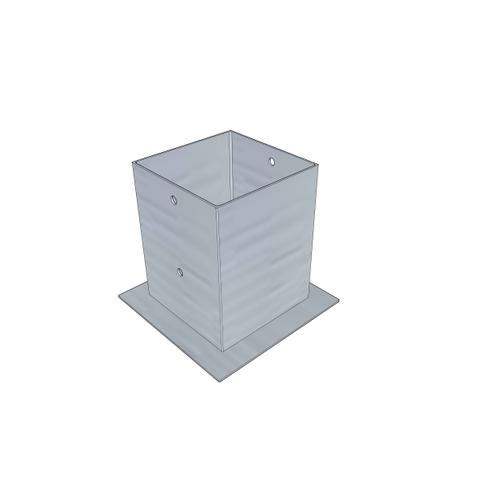 Solid paalhouder  met plaat 120x120mm