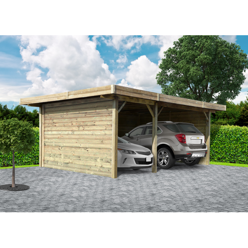 Solid voorwand 'S7737' hout 390 x 245 cm