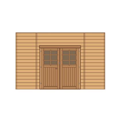 Solid voorwand met dubbele deur 'S7738' hout 390 x 245 cm