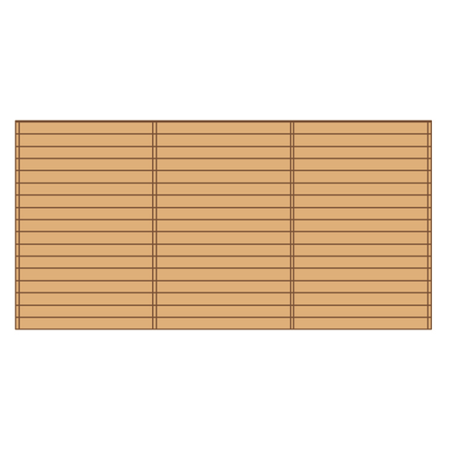 Solid voorwand 'S7744' hout 480 x 245 cm