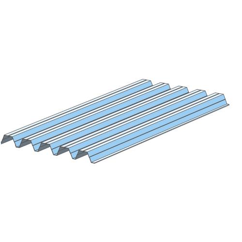 Solid dak voor carport 'S5216' polycarbonaat 260 x 107,4 cm