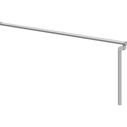 Solid afwateringsset voor carport 'S5215' 500/600 cm