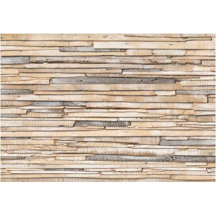 Fotobehang White washed wood papier