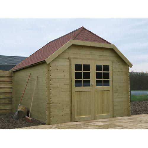 Abri de jardin Solid 'Limerick' bois imprégné 10 m²