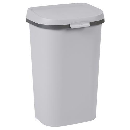 Poubelle Curver Mistral Flat 50L PVC recyclé gris clair