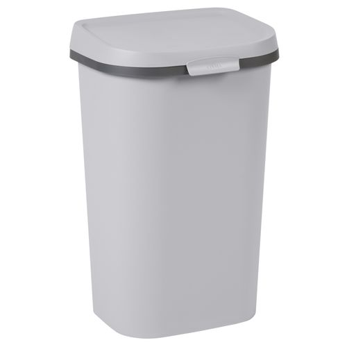 Curver vuilnisbak Mistral Flat recycled PVC lichtgrijs 50L