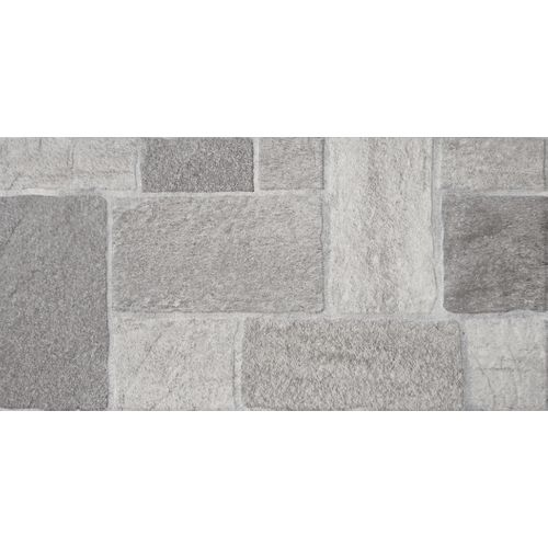 Carrelage sol 'Patio' gris 30 x 60 cm