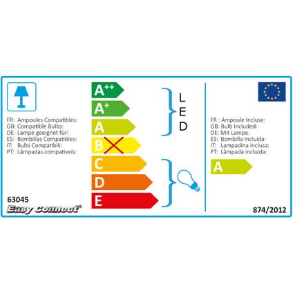 Easy Connect Feestverlichting in diverse kleuren 5 m 8 lampen E27 LED 0,9W 230V