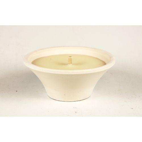 Bougie pot terre cuite Spaas blanc 18cm