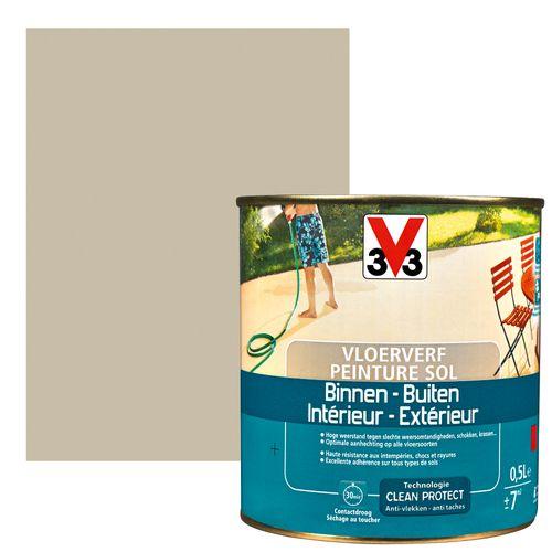 Peinture sol V33 intérieur/extérieur argile satiné 500ml