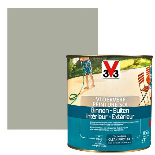 Peinture sol V33 intérieur/extérieur carbone satiné 500ml