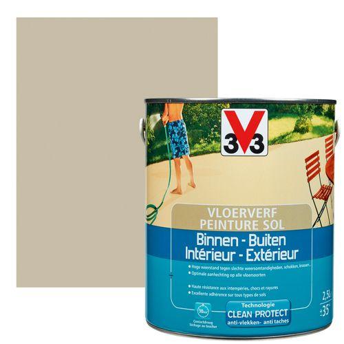 Peinture sol V33 intérieur/extérieur argile satiné 2,5L