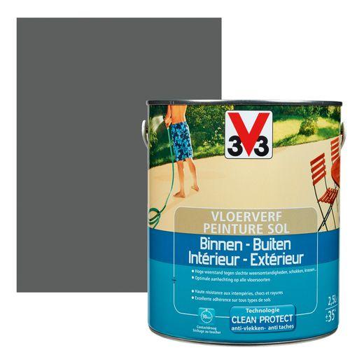 Peinture sol V33 intérieur/extérieur graphite satiné 2,5L