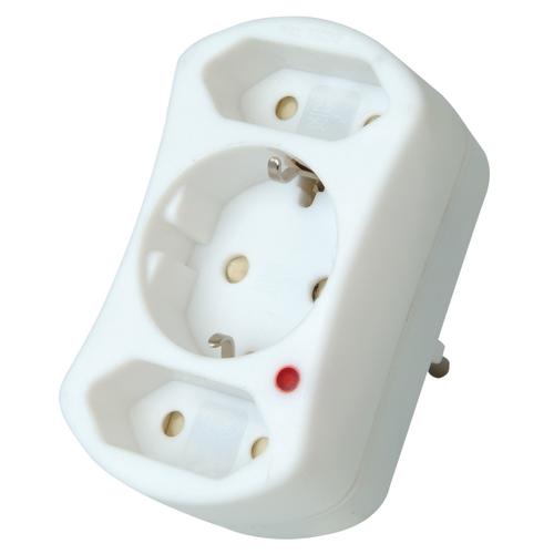 Kopp adapter met RA + overspanningsbeveiling wit
