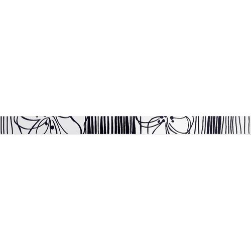 Meissen Ceramics sierplint Esprit zwart 4,5x60cm 1 stuk