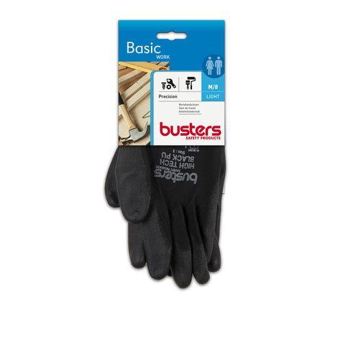Busters handschoenen Precision nylon/PU zwart M8