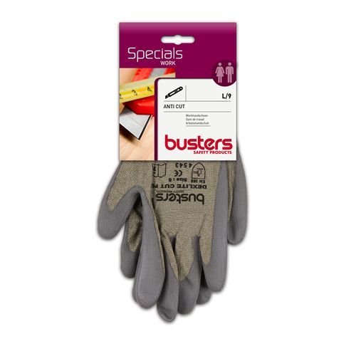 Busters handschoenen Anti Cut polyethyleen grijs M9