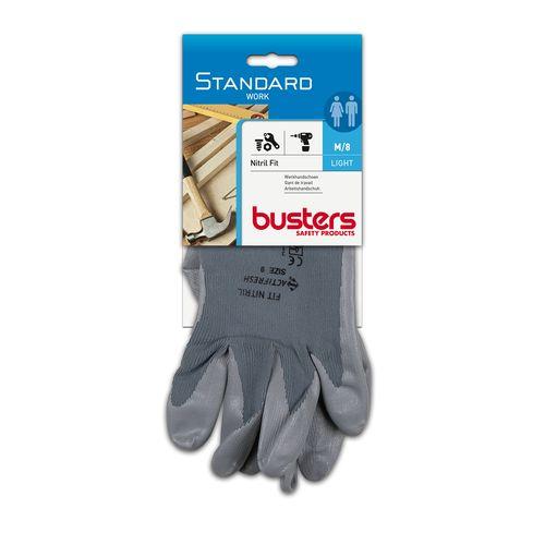 Busters handschoenen Nitril fit nylon/nitril M8