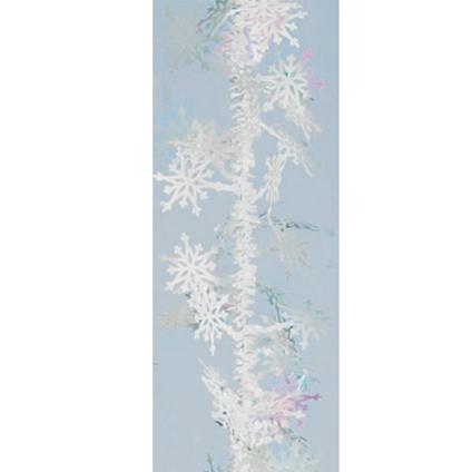 Weiste kerstslinger wit 2 m x 9 cm