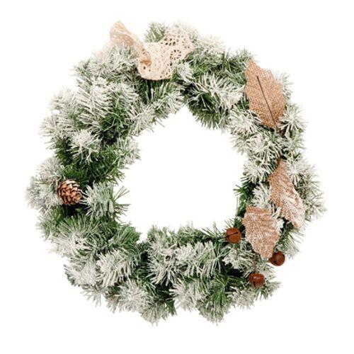 Couronne de Noël vert 25 cm