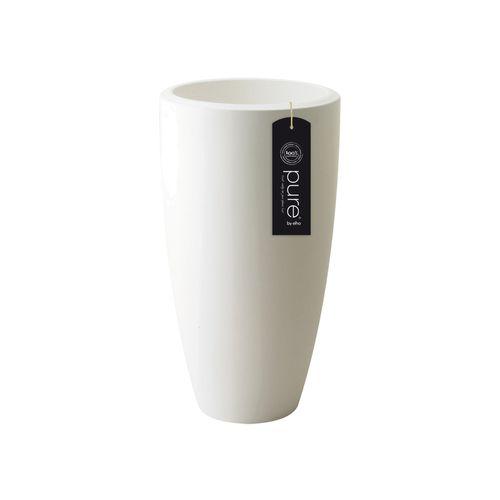 Pot Elho 'Pure Soft Round High' blanc 30 cm
