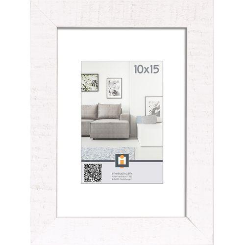 Intertrading fotolijst 'Sydney' hout wit 10 x 15 cm