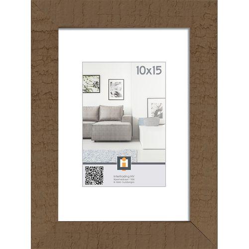 Intertrading fotolijst 'Sydney' hout taupe 10 x 15 cm