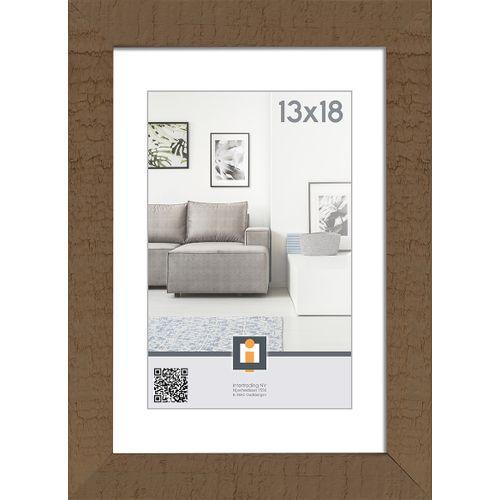 Intertrading fotolijst 'Sydney' hout taupe 13 x 18 cm
