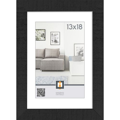 Intertrading fotolijst 'Sydney' hout zwart 13 x 18 cm