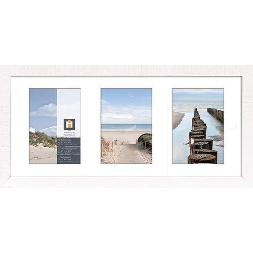 Intertrading fotolijst 'Sydney' hout wit 21 x 45 cm