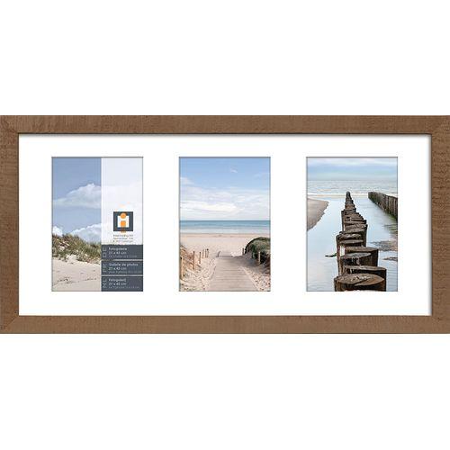 Intertrading fotolijst 'Sydney' hout taupe 21 x 45 cm