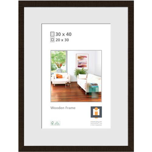 Cadre photo Intertrading 'Sydney' bois noir 30 x 40 cm