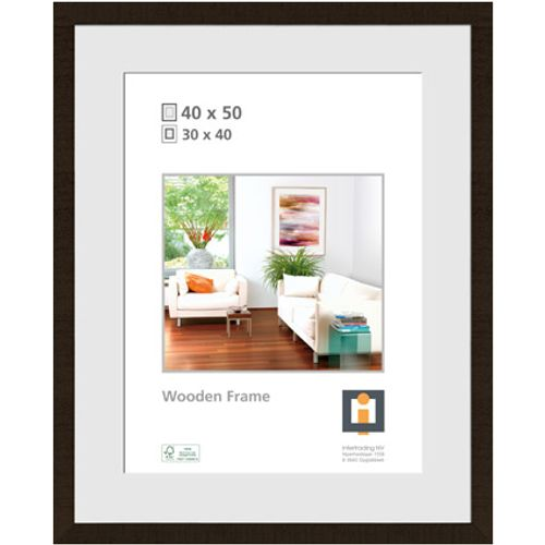 Intertrading fotolijst 'Sydney' hout zwart 40 x 50 cm