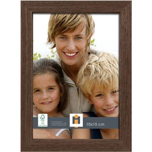 Intertrading fotolijst 'Brussel' hout bruin 10 x 15 cm