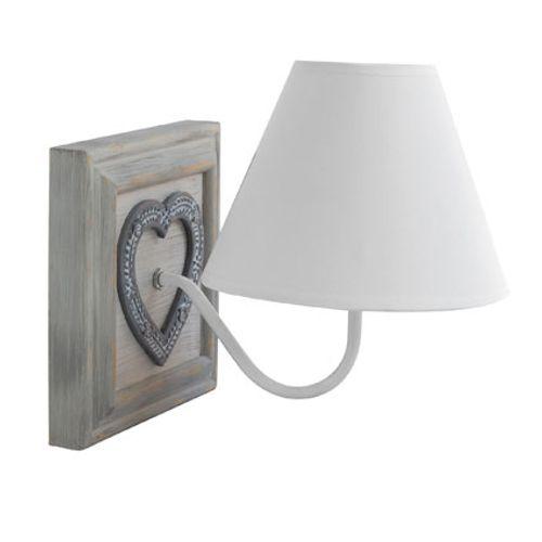Seynave wandlamp 'Lutece' wit/naturel 40 W