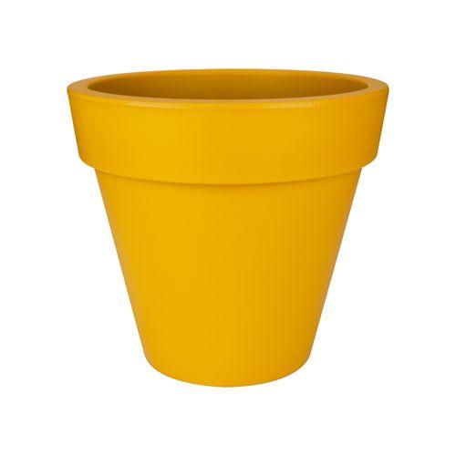 Pot Elho 'Pure Round' ocre 40 cm