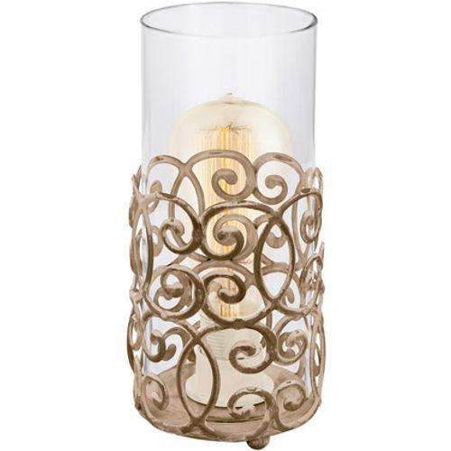 Lampe à poser Eglo 'Vintage' 1 x E27 brun