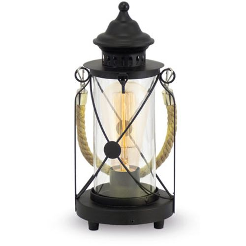 EGLO tafellamp Bradford zwart 60W