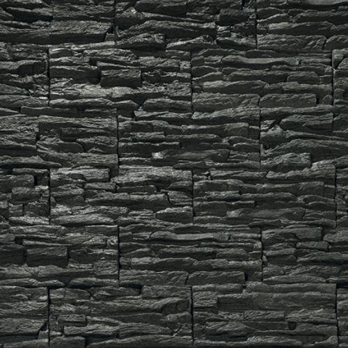 Brique de parement Décor béton noir