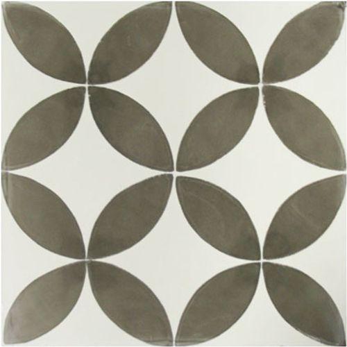 Vloertegel Marrakech cirkeldecor grijs 20x20cm